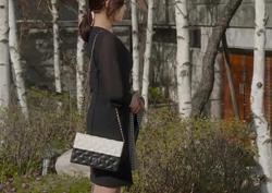 [14회_고나경] 고급스러운 블랙&화이트 '미니백'