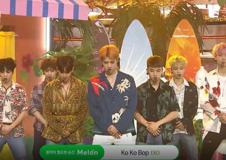 엑소, 'Ko Ko Bop'으로 첫 1위! 정용화·라붐 컴백 무대 공개!