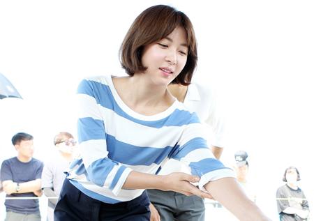 <병원선> 하지원, '열정+여신美 가득 고사현장'