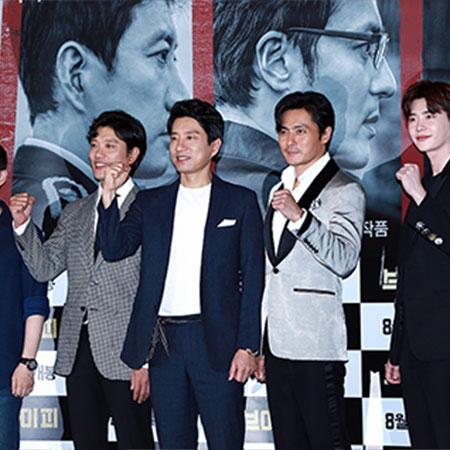 [포토] <브이아이피> 화이팅 외치는 박훈정 감독과 배우들
