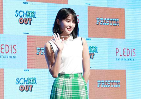 [포토] 프리스틴 유하, 새침한 미소로 손인사