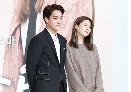 [포토] <안단테> 카이-김진경, 훈훈한 키차이 '케미가 넘치네~!'