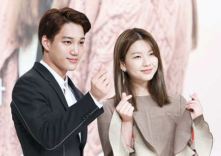[포토] <안단테> 카이-김진경, 하트가 퐁퐁~ 화려한 케미스트리