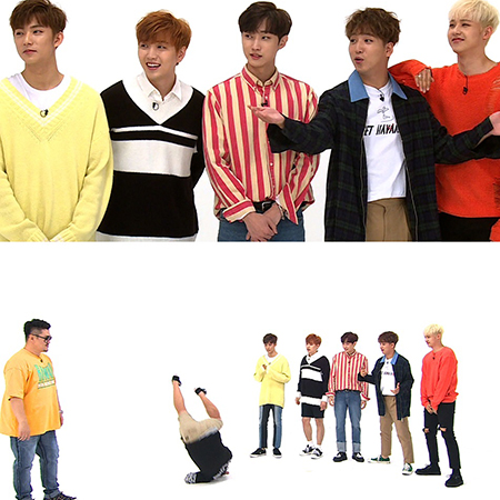 <주간아이돌> B1A4, 정형돈이 참여한(?) '롤린' 안무 공개