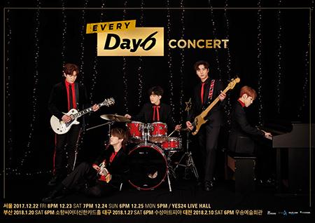 DAY6, '부산-대구-대전' 라이브 투어 진행! 오늘(11일) 부산 공연 티켓 오픈