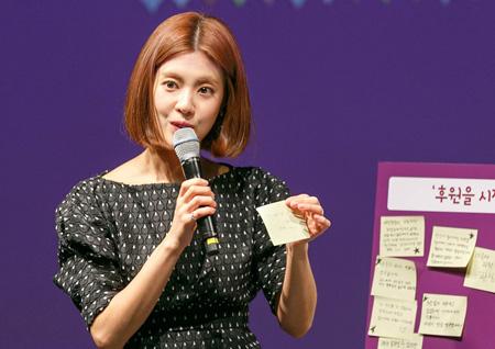 이윤지, '기아종식을 꿈꾸는 토크콘서트' 진행··· 다이아-하림 공연 '훈훈'