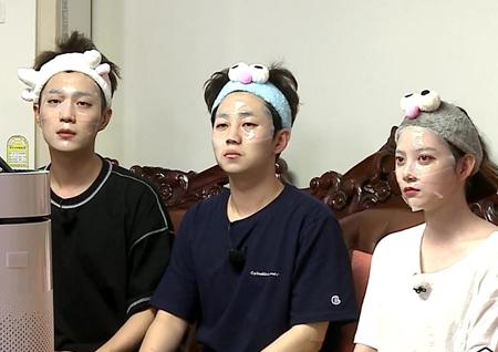 <발칙한 동거> 윤두준-임주은-딘딘, 못난이로 변신··· '웃지 마' 인증샷 도전!