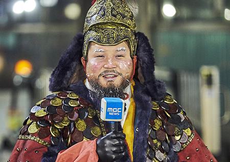 """<무한도전> 조세호, 화제의 '동장군' 변신 과정 최초 공개! """"제가 기상캐스터라고요?"""""""