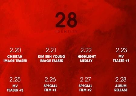 '스물여덟' 치타, 데뷔 8년 만에 첫 정규앨범으로 돌아온다...'28 IDENTITY'로 컴백 확정