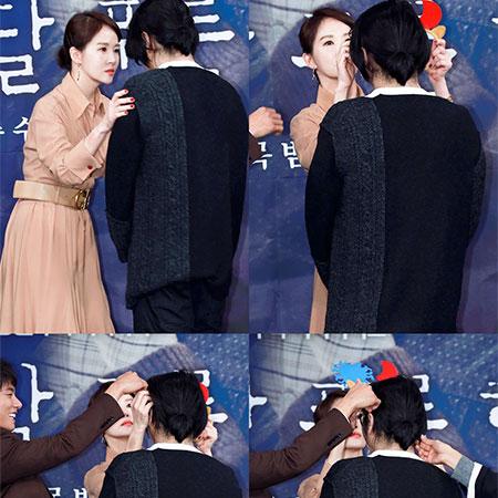 [B하인드] '붉은 달 푸른 해' 제작발표회장을 웃게 만든 김선아의 HOT! 아이템은?!