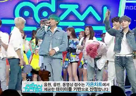 방탄소년단 '쇼! 음악중심'에서 1위, 역시 BTS!