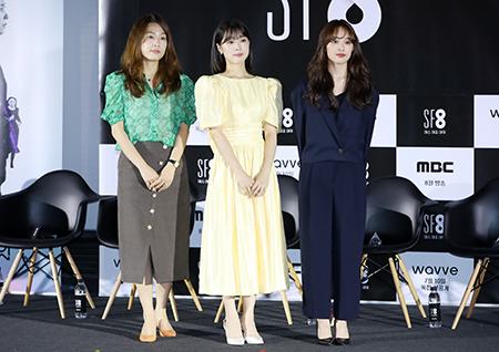 [포토] 이윤정 감독-최성은-김보라, SF8 '우주인 조안'의 감독과 출연진