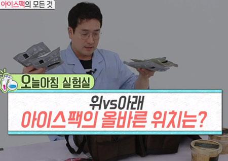 [생활 꿀팁!] 여름 휴가철 필수 '아이스팩' 위&아래 어디가 더 효과적?