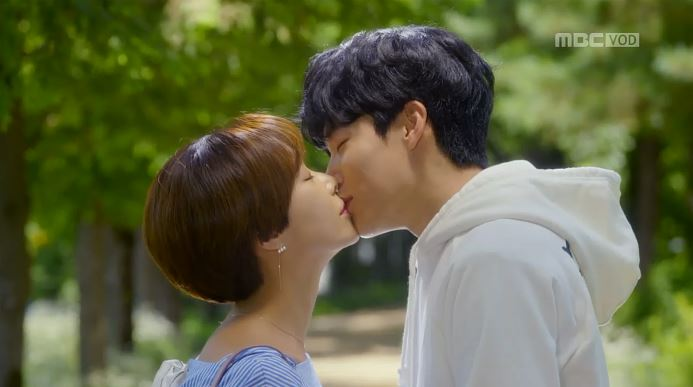 Image result for lucky romance kiss episode