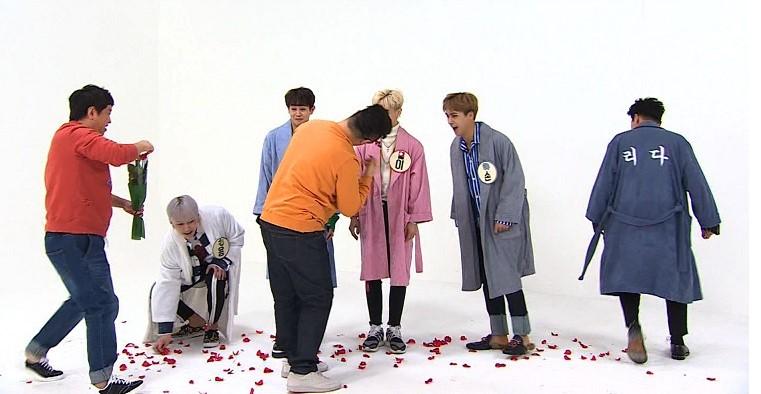 """""""꽃길을 응원해"""" <주간아이돌> 정형돈, 하이라이트에 '수제 꽃길' 선물"""
