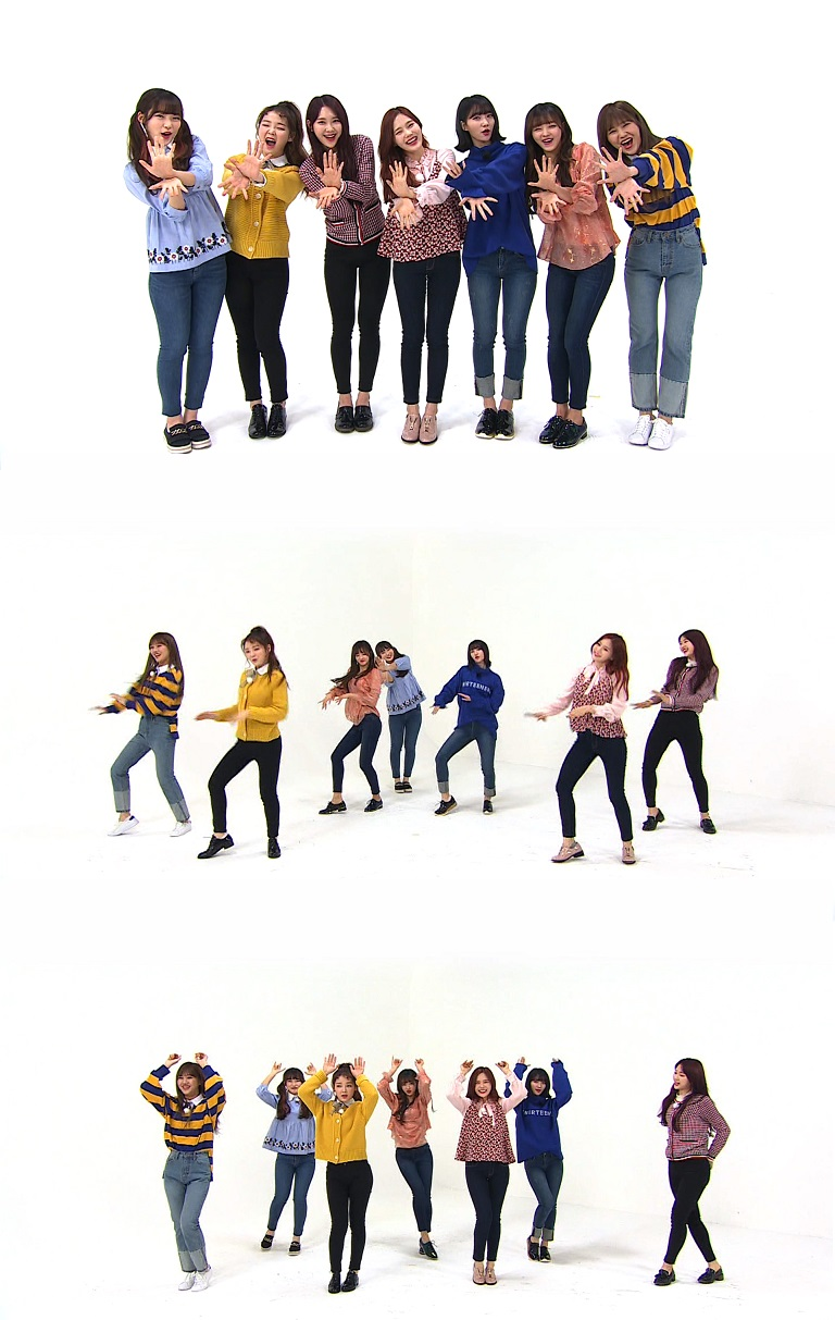 <주간아이돌> 오마이걸, '컬러링북' 댄스 16배속 과연 성공?!