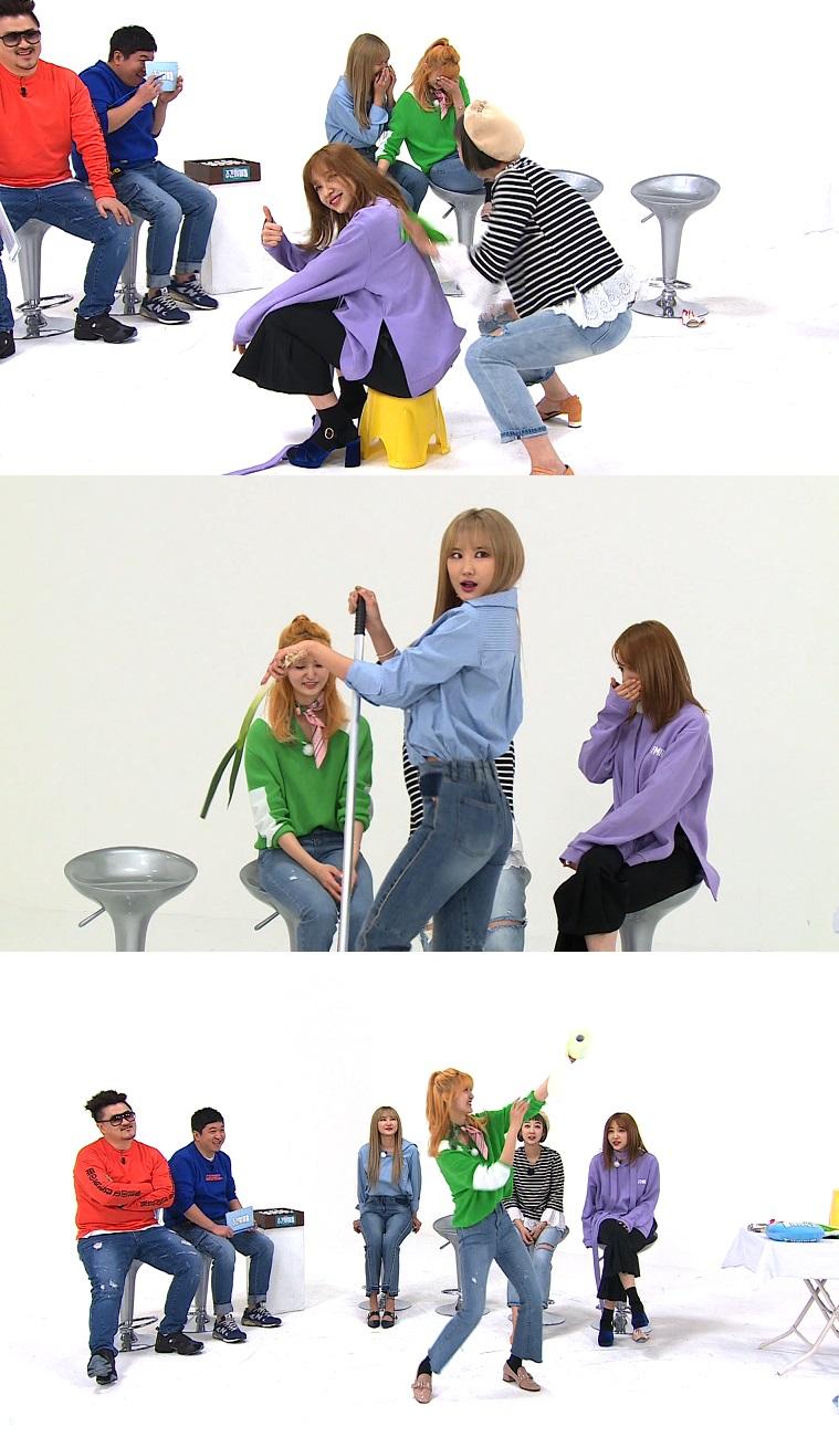 <주간아이돌> 출연하면 레전드! EXID, MC들이 저지하는 '비글미'