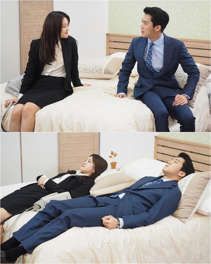 <자체발광 오피스> 고아성-하석진, 벌써 한 침대에? '러브라인 급물살'