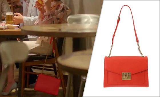 [15회_하지나] 강렬한 오렌지 레드 컬러의 '가방'