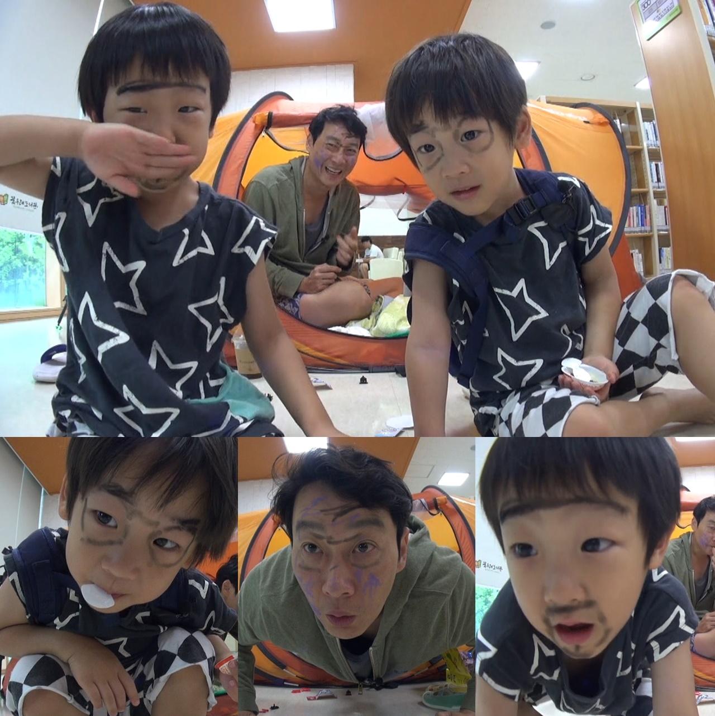 <슈퍼맨> 서준-서언 형제, '아빠와 알콩달콩 시간'