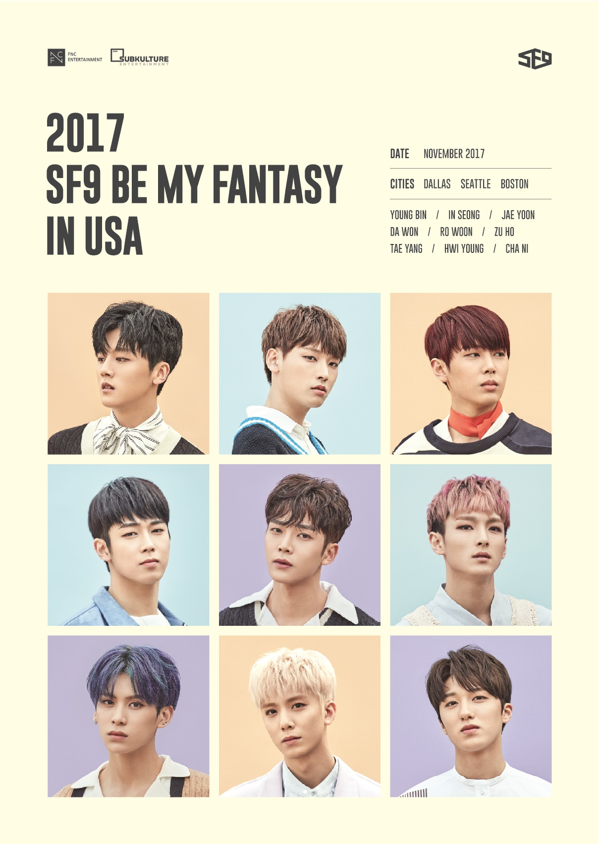 SF9, 미주 팬미팅 투어 개최 '글로벌 아이돌 행보'