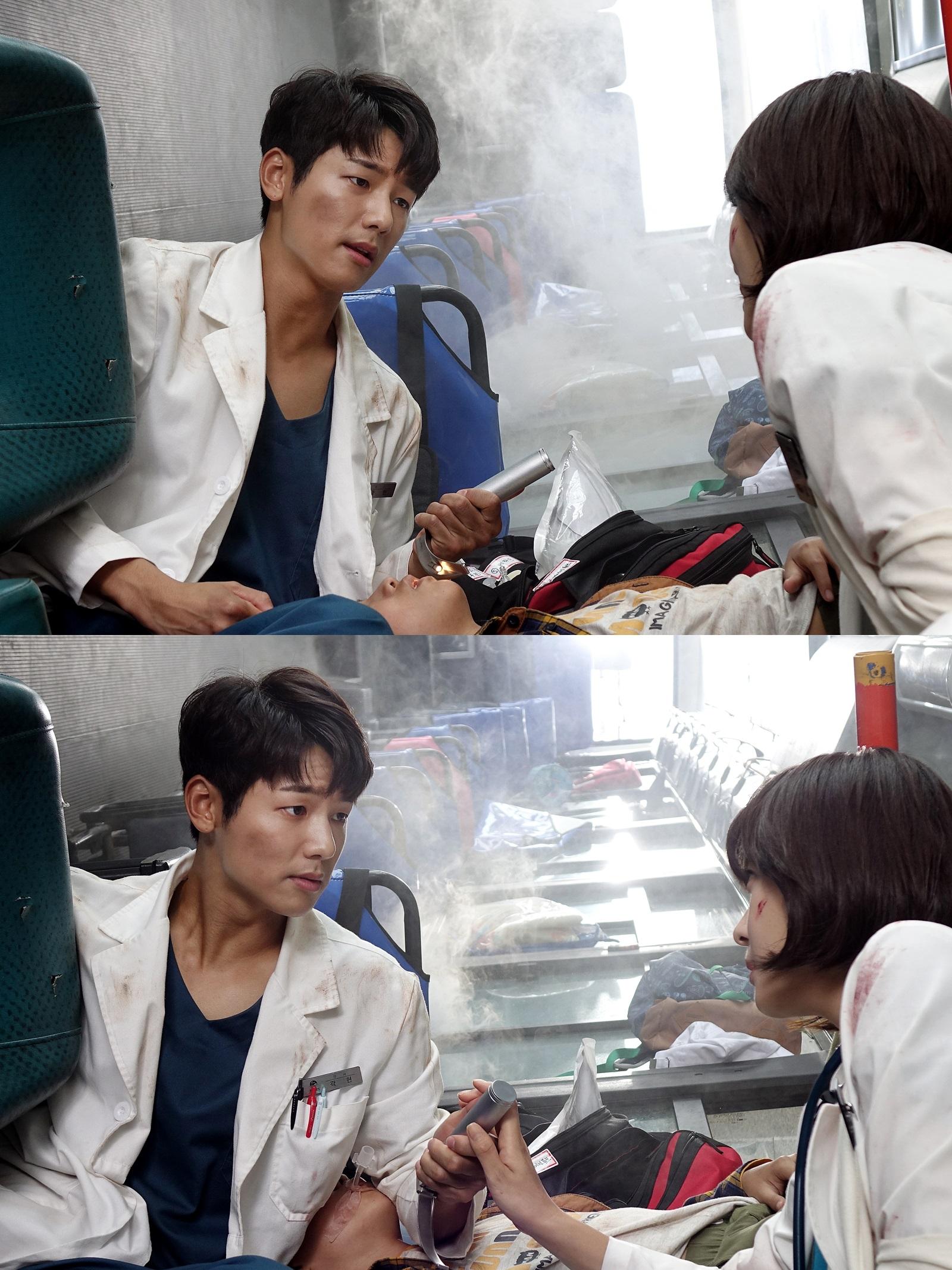 <병원선> 하지원-강민혁, 버스 전복사고 휘말렸다 '협진 시작?' 이미지-1