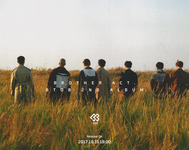 비투비, 가을분위기 물씬 풍기는 'Brother Act.' 컴백 아트웍 공개