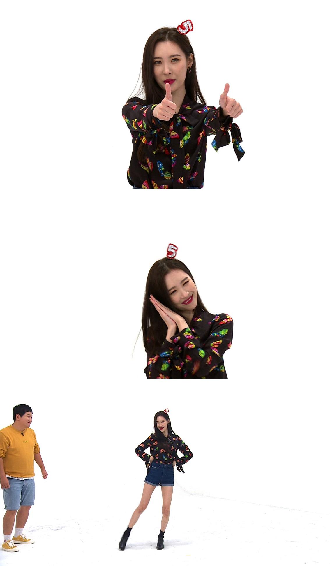 <주간아이돌> 선미, 여자친구 엄지 팬심에 응답→완벽 커버댄스 '감탄'