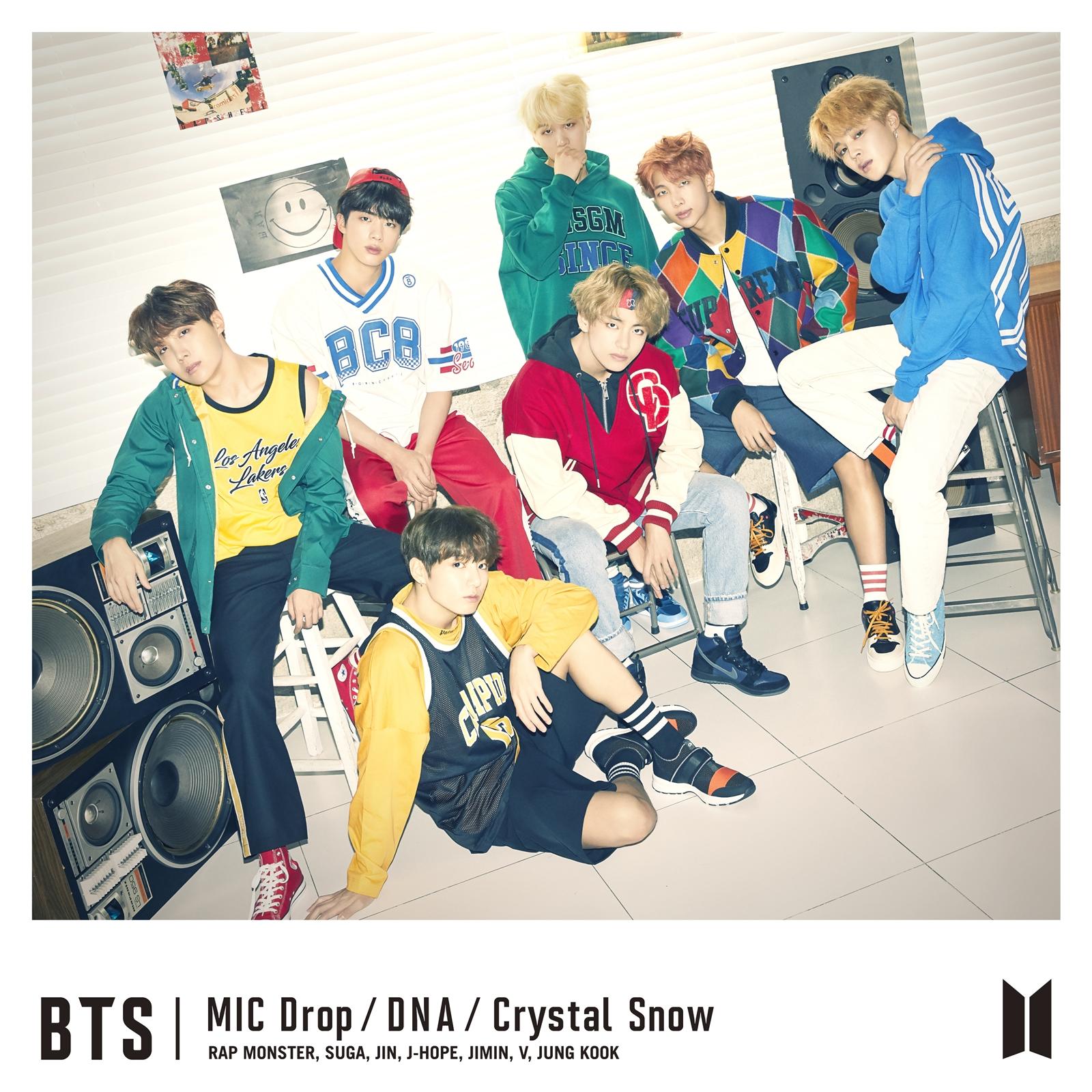 방탄소년단, 'MIC Drop/DNA/Crystal Snow' 日 오리콘 차트 1위 '기염'