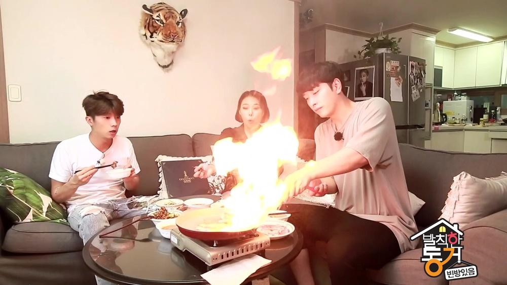 <발칙한 동거> 2PM 찬성, 치타 집에서 화끈한 불쇼? '불타오르네'