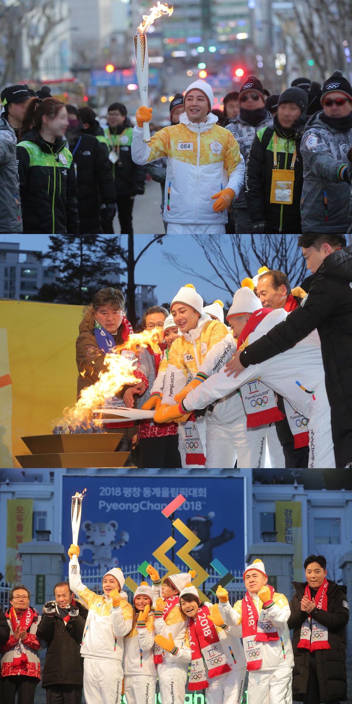 배우 장근석, '2018 평창동계올림픽' 홍보대사...강원도 춘천구간 성화봉송 마지막 주자로 대미 장식