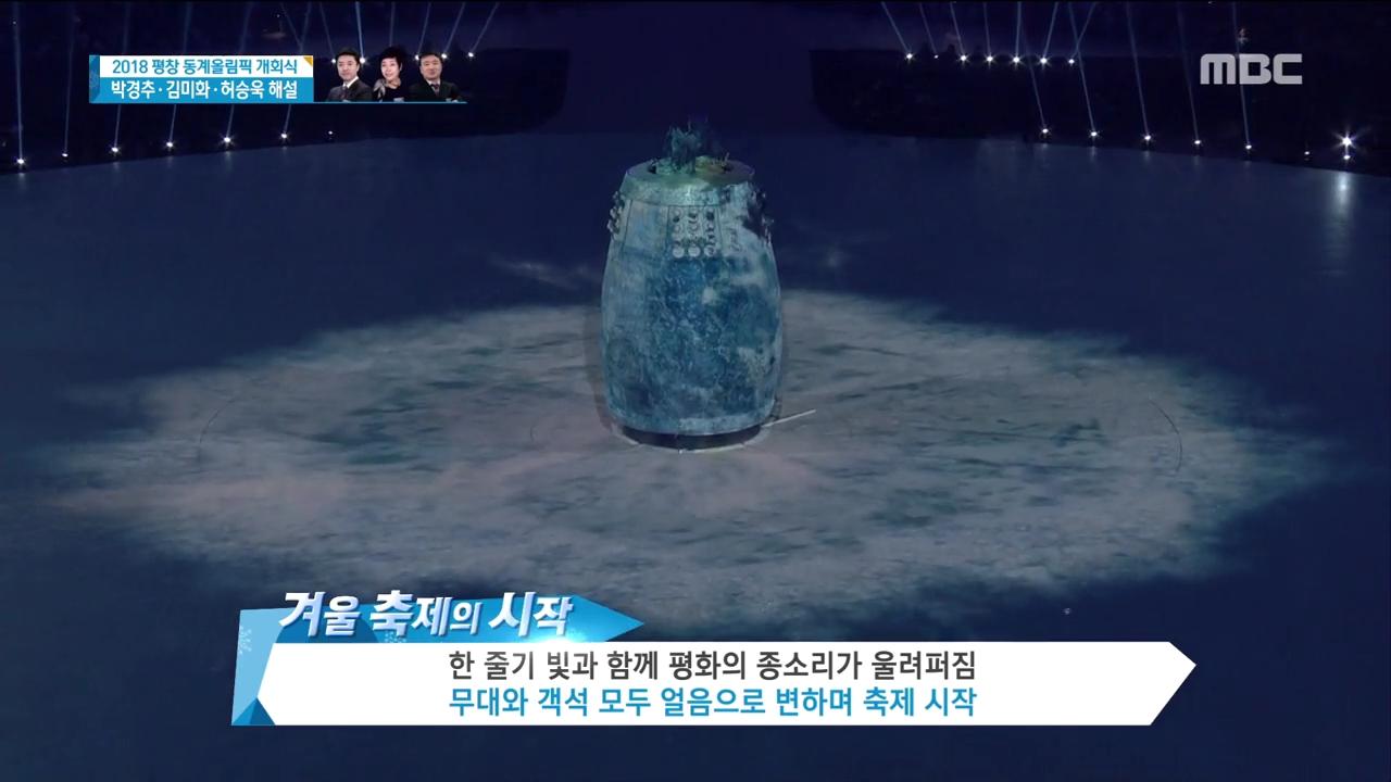 '평화의 서막' 남북 공동 입장-김연아 성화 점화... 2018 평창 동계올림픽 개막