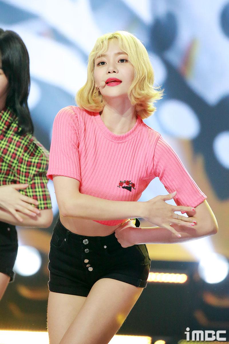[포토] '쇼 챔피언' AOA 유나, 아찔한 장미빛 입술