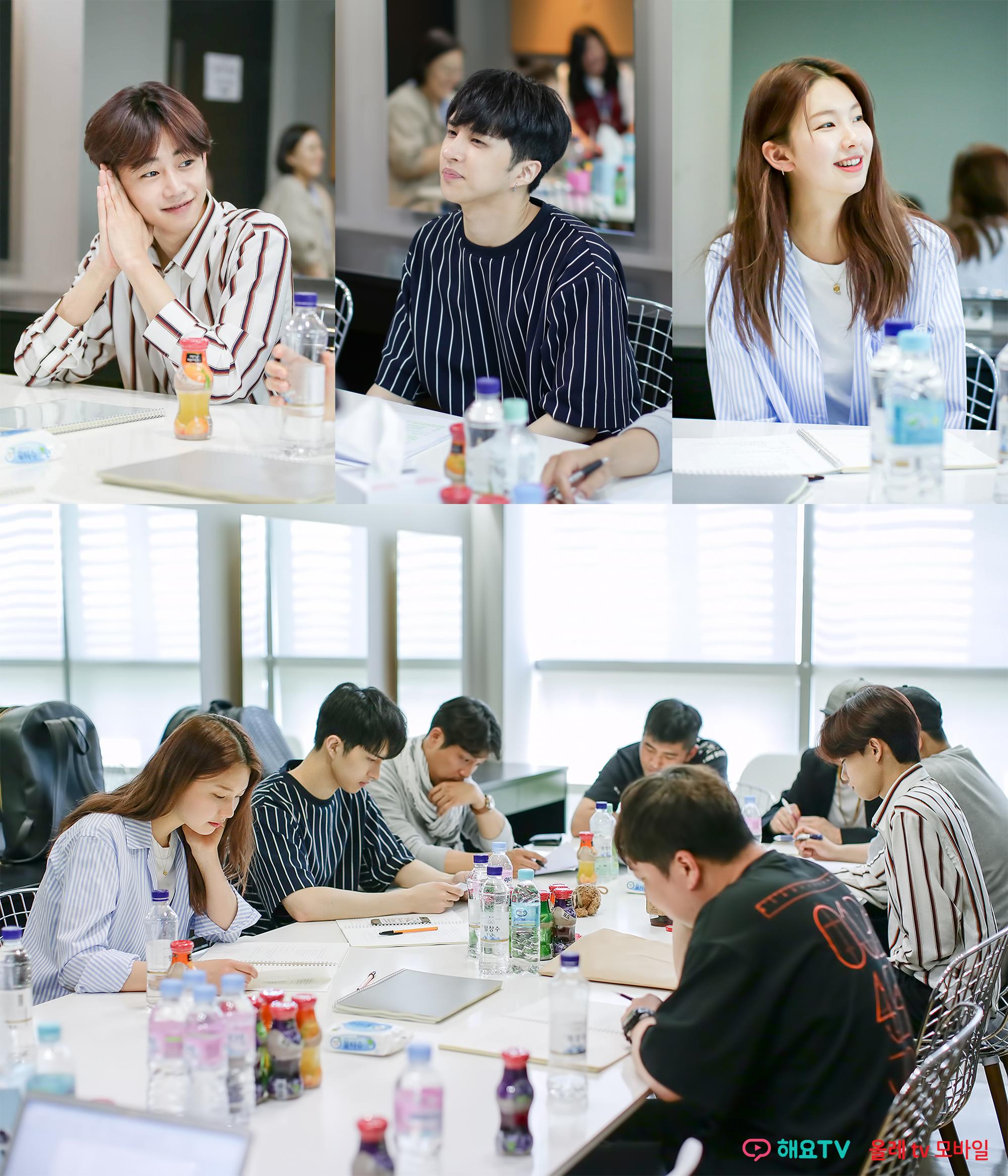 '두부의 의인화' 박지빈x켄x김진경, 첫 대본 리딩 현장 공개
