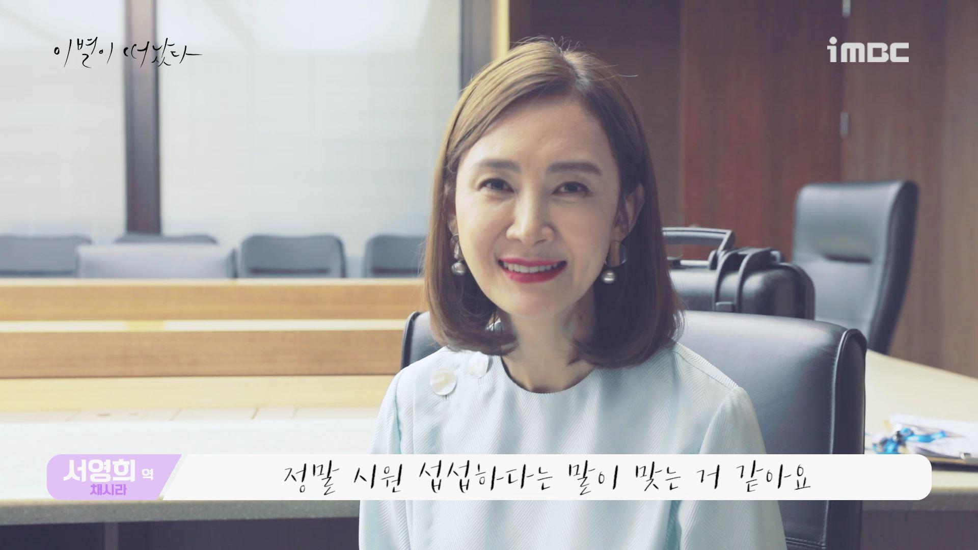"""[끝터뷰] '이별이 떠났다' 채시라, """"많은 칭찬과 응원에 힘든지 모르고 촬영했다"""""""