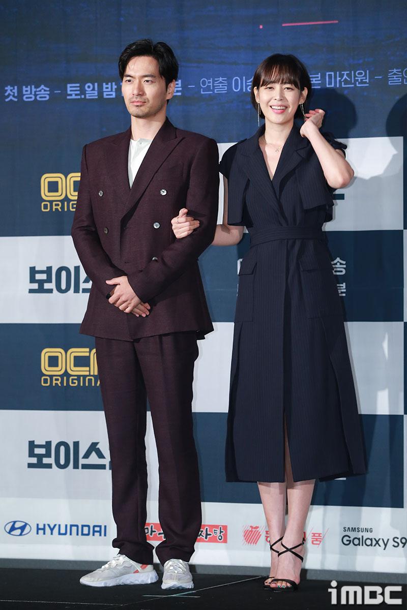 [포토] '보이스2' 이진욱-이하나, 아직은 어색해보이는 두 배우