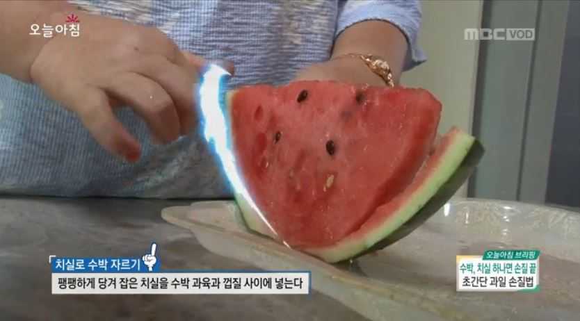 수박, 00 하나면 손질 끝? 초간단 '여름 과일 활용법'