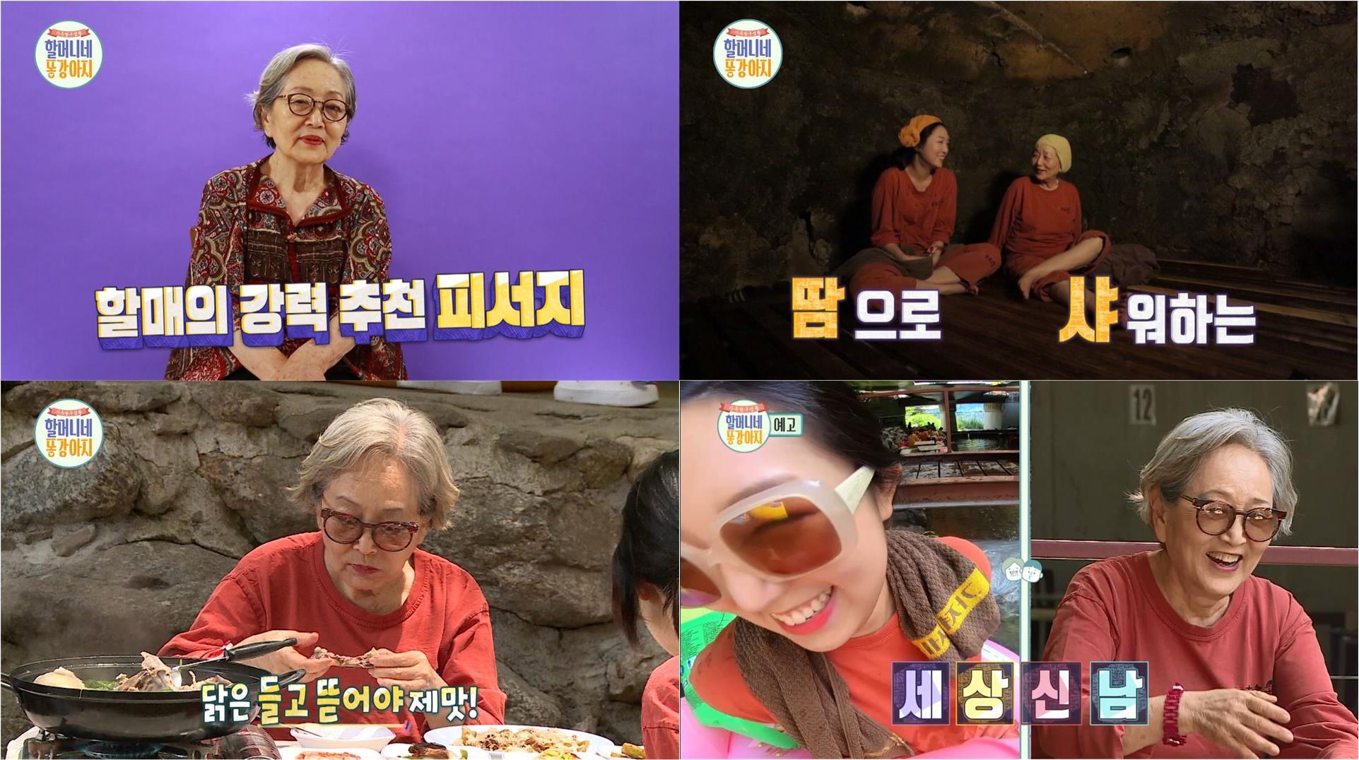 '국민할매' 김영옥의 야외 한증막 + 삼계탕 무더위 해소법에 손녀는 당황
