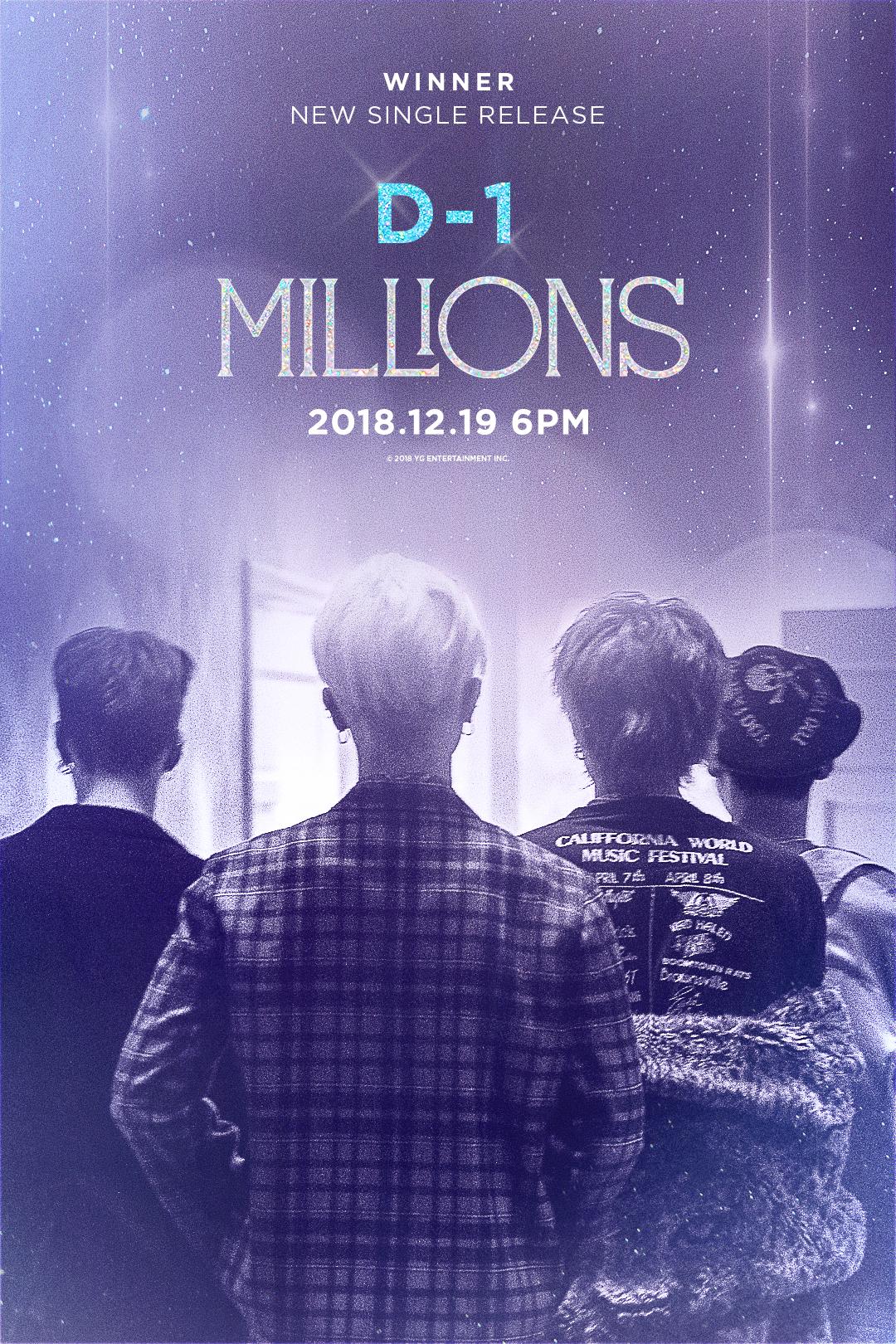 위너 컴백 D-1, '밀리언즈' 티저 신비감 증폭...YG 양현석 대표 뮤직비디오 깜짝 스포 '뜨거운 화제'