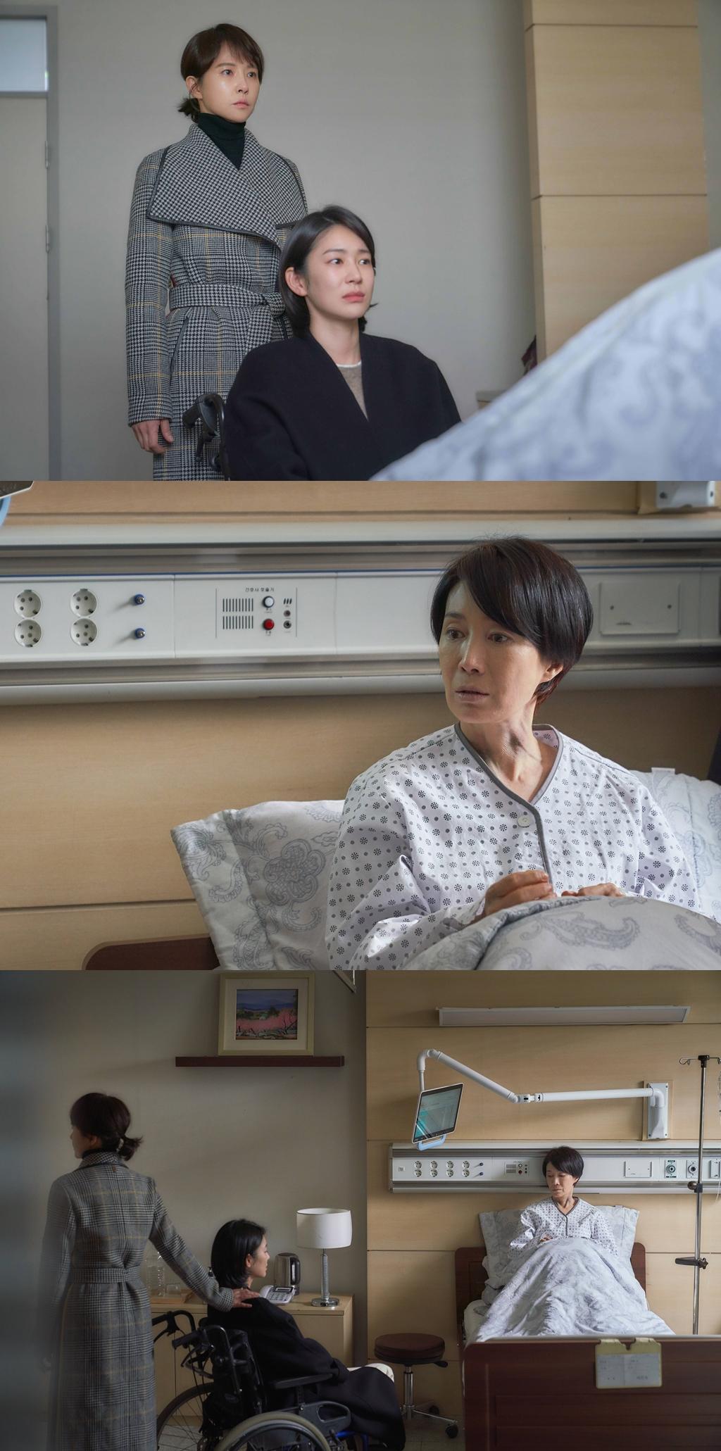 '붉은 달 푸른 해' 김선아X나영희X오혜원, 세 모녀의 삼자대면…진실 밝혀지나?
