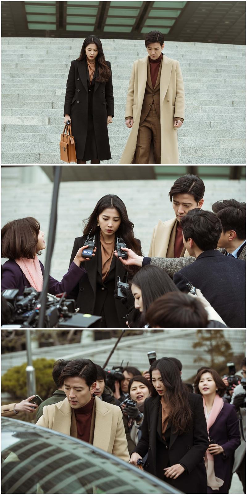 '신과의 약속' 배수빈, 재판 마친 오윤아 에스코트하는 이유는? '관심 집중'