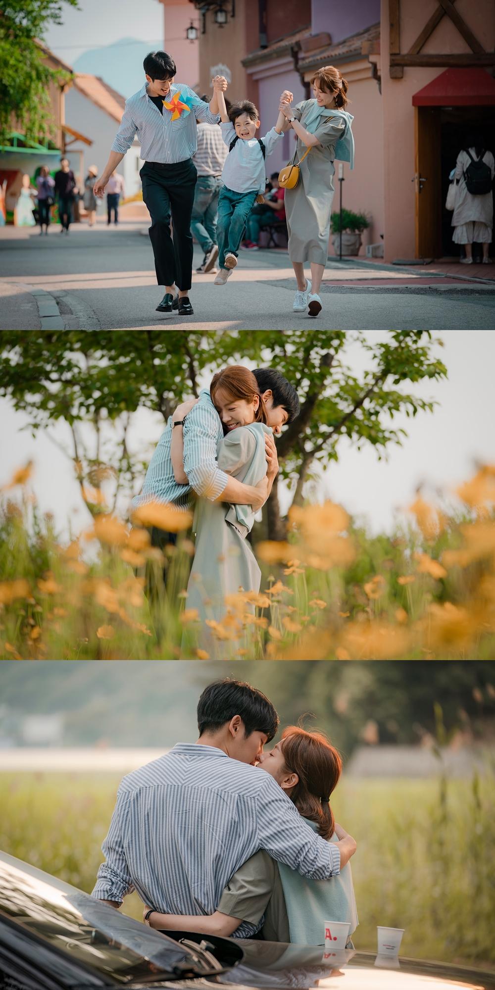 '봄밤' 한지민-정해인, 꽃밭에서의 달콤한 키스 포착 '설렘 지수 UP'