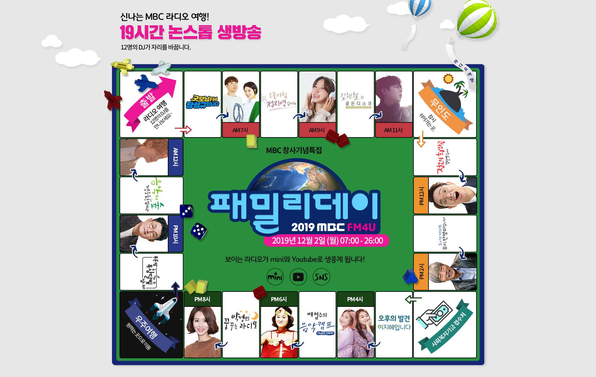 'MBC FM4U 패밀리데이' 장성규 라디오에 뮤지·안영미가?! 19시간 '논스톱' 생방송