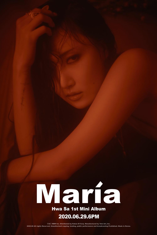 마마무 화사, 신곡 'Maria' 음원차트 정상… 솔로 2연속 '흥행'