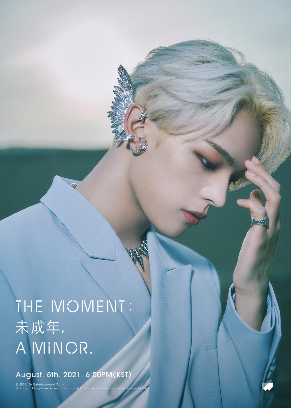 5일(목), 김우진 미니 앨범 1집 'The moment : 未成年, a minor.' 발매 | 인스티즈