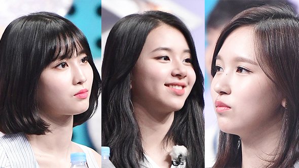 트와이스 미나-모모-채영, 3인 3색 '상어 가족' 변신!